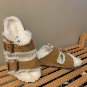 Birkenstock Arizona with fur lining